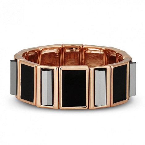 Principles by Ben de Lisi - Designer black enamel 3-d stretch bracelet