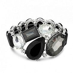 Principles by Ben de Lisi - Designer grey cluster stone stretch bracelet