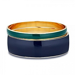Principles by Ben de Lisi - Designer blue and green enamel bangle set