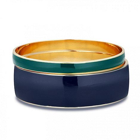 Principles by Ben de Lisi - Designer blue and green enamel bangle set