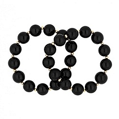 Principles by Ben de Lisi - Designer black pearl stretch bracelet set