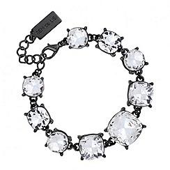 Principles by Ben de Lisi - Designer crystal set hematite link bracelet