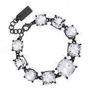 Designer crystal set hematite link bracelet