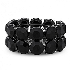 Principles by Ben de Lisi - Designer jet double row stone stretch bracelet