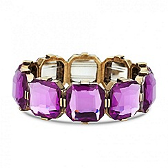 Principles by Ben de Lisi - Designer purple square stretch bracelet