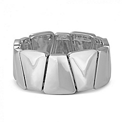 Principles by Ben de Lisi - Designer polished angular stretch bracelet