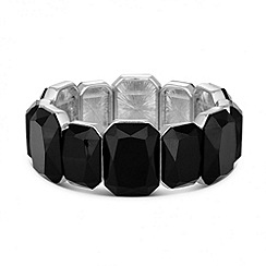 Principles by Ben de Lisi - Designer black panel stretch bracelet