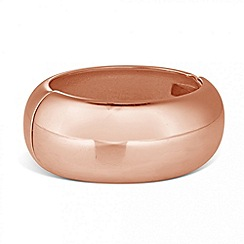 Principles by Ben de Lisi - Designer rose gold chunky hinged bangle