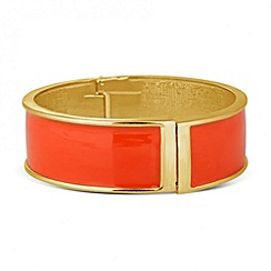 Principles by Ben de Lisi - Designer peach enamel polished bangle