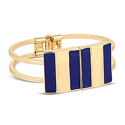 Principles by Ben de Lisi - Designer blue enamel hinged bangle