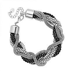 Principles by Ben de Lisi - Designer jet and silver twist chain bracelet