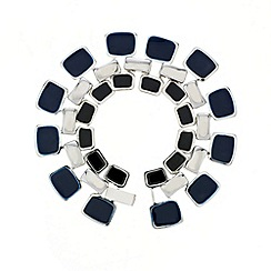 Principles by Ben de Lisi - Designer blue and jet enamel triple link bracelet