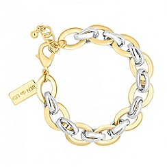 Principles by Ben de Lisi - Designer two tone polished link chain bracelets