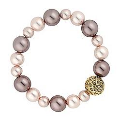 Principles by Ben de Lisi - Designer mink multi pearl stretch bracelet