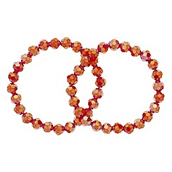 Principles by Ben de Lisi - Designer red bead stretch bracelet set