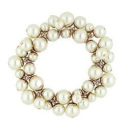 Principles by Ben de Lisi - Designer pearl cluster stretch bracelet