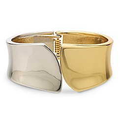 Principles by Ben de Lisi - Designer two tone polished curve bangle