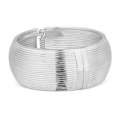 Principles by Ben de Lisi - Designer silver ridged wide bangle