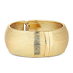Principles by Ben de Lisi - Designer gold ridged statement bangle