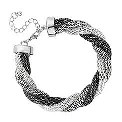 Principles by Ben de Lisi - Designer triple tone twisted mesh bracelet