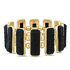 Principles by Ben de Lisi - Designer jet embellished stick stretch bracelet