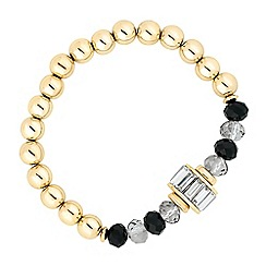 Principles by Ben de Lisi - Designer jet bead and crystal baguette stretch bracelet