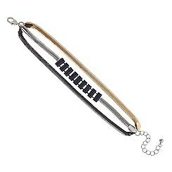 Principles by Ben de Lisi - Designer triple tone multi row bracelet