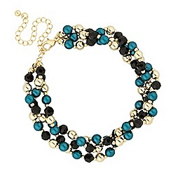 Principles by Ben de Lisi - Designer mixed bead multi row bracelet