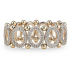 Principles by Ben de Lisi - Designer crystal embellished oval link stretch bracelet