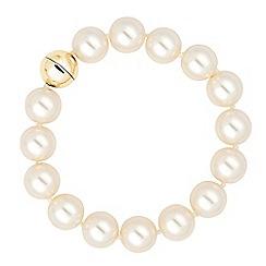 Principles by Ben de Lisi - Designer cream pearl magnetic bracelet