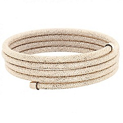 Principles by Ben de Lisi - Designer gold glitter textured coil bangle