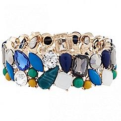 Principles by Ben de Lisi - Designer multicoloured stone cluster bracelet