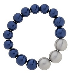 Principles by Ben de Lisi - Designer graduated blue and grey pearl bracelet