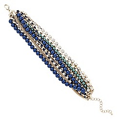 Principles by Ben de Lisi - Designer blue and green pearl twist bracelet