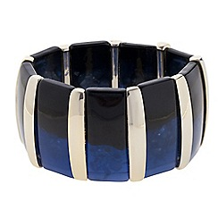 Principles by Ben de Lisi - Designer blue and gold resin stick stretch bracelet