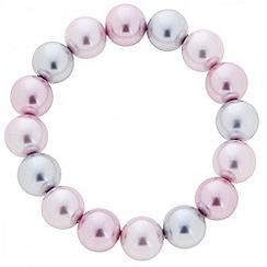 Principles by Ben de Lisi - Designer pink and grey pearl strand bracelet