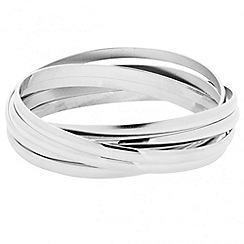 Principles by Ben de Lisi - Designer polished silver bangle pack