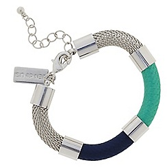 Principles by Ben de Lisi - Designer blue tonal thread wrap bracelet