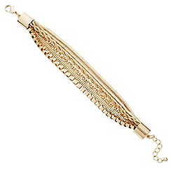 Principles by Ben de Lisi - Designer mixed gold chain multi row bracelet