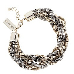 Principles by Ben de Lisi - Designer two tone twisted mesh bracelet