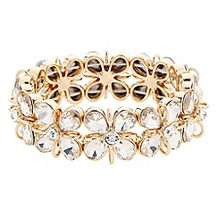 Principles by Ben de Lisi - Designer gold teardrop flower stretch bracelet