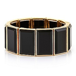 Principles by Ben de Lisi - Black facet stretch bracelet
