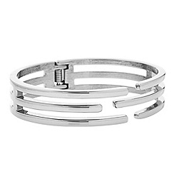 Principles by Ben de Lisi - Designer silver caged bangle