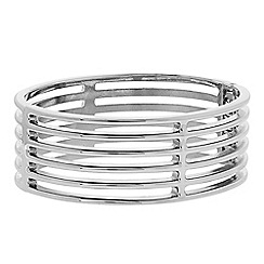 Principles by Ben de Lisi - Designer Silver caged bangle bracelet
