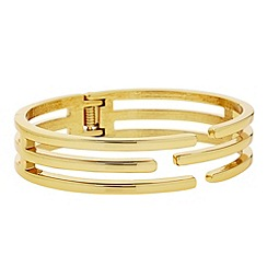 Principles by Ben de Lisi - Designer gold caged bangle
