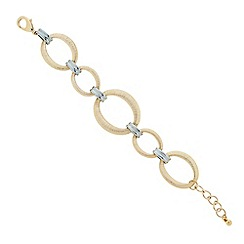 Principles by Ben de Lisi - Designer Textured gold and silver link bracelet