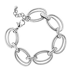 Principles by Ben de Lisi - Designer Silver double ring bracelet