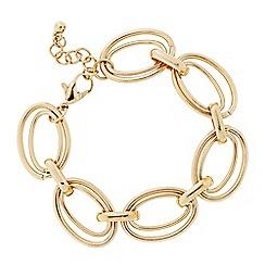 Principles by Ben de Lisi - Designer Gold double ring bracelet