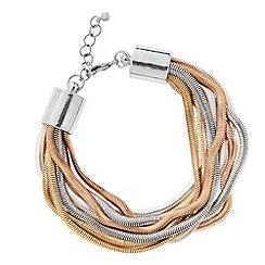 Principles by Ben de Lisi - Designer triple tone multirow bracelet