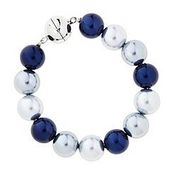 Principles by Ben de Lisi - Designer blue tonal pearl magnetic bracelet